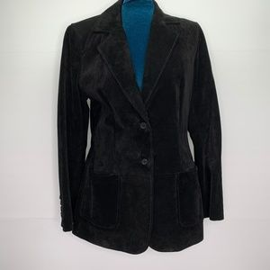 Lord & Taylor Size 4 Suede Leather Blazer